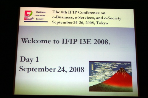 Opening IFIP I3E 2008, Tokyo